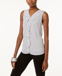 Inc International Concepts Printed Ruffled Tank Top Only At Macy's Junior Dot