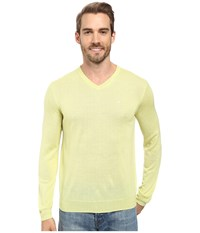 Calvin Klein Merino Moon And Tipped V Neck Sweater Sunny Lime Men's Sweater Green