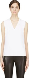 Thierry Mugler White Ribbed Shell Top