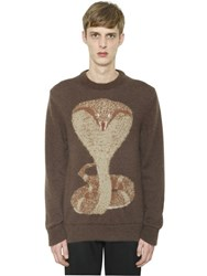 Givenchy Cobra Mohair Blend Jacquard Sweater