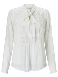Alice By Temperley Somerset Spot Pretty Blouse Ivory
