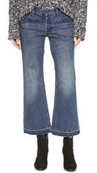 Free People Chelsea Cropped Kick Flare Jeans Jacob Wash