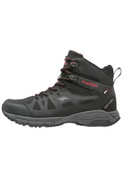 Kangaroos Parbat Walking Boots Black Flame Red