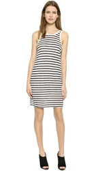 Alexander Wang Striped Tank Dress Navy And White
