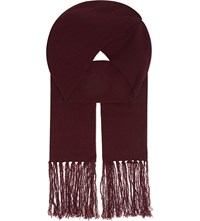 The Kooples Wool Cashmere Scarf Black