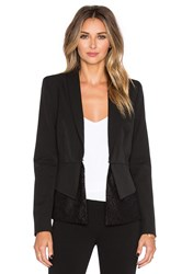 Olcay Gulsen Peplum Tailored Blazer Black