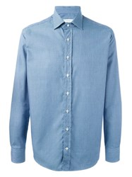 Etro Geometric Pattern Shirt Blue