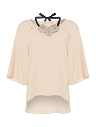 Pennyblack Famiglia Necklace Detail Top Pastel Pink