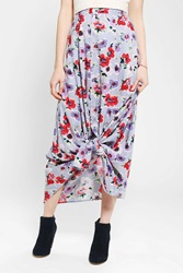 Urban Renewal Button Front Maxi Skirt Purple