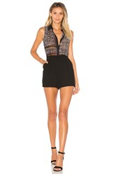 Bcbgeneration Collared Romper Black