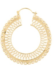 Wouters And Hendrix Filigree Hoop Earrings Metallic