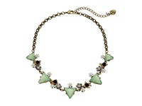 Betsey Johnson Wanderlust Triangle Frontal Necklace Mint Green Necklace