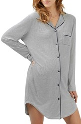 Topshop Women's Stripe Piped Maternity Nightshirt