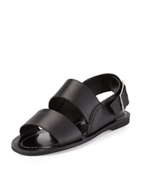 Charles By Charles David Ava Leather Slingback Sandal Black