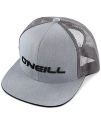 O'neill Men's Challenged Embroidered Logo Trucker Hat Grey
