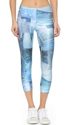 Zara Terez Denim Patchwork Performance Leggings