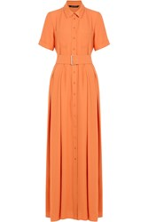 Tara Jarmon Belted Maxi Dress Orange