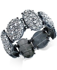 Styleandco. Style And Co. Hematite Tone Glitter Stretch Bracelet Only At Macy's