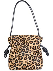 Loewe Leopard Print Shoulder Bag Nude And Neutrals