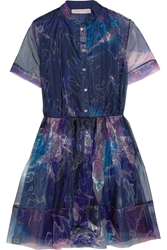 Matthew Williamson Printed Organza Mini Dress
