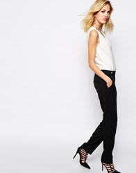 Supertrash Tailored Jumpsuit In Colourblock Blackcloud