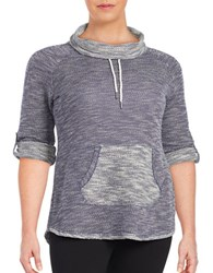 Calvin Klein Performance Plus Knit Cowlneck Sweater Astral Purple