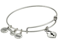Alex And Ani Key To My Heart Charm Bangle Rafaelian Silver Finish Bracelet