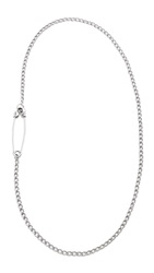 Giles And Brother Embedded Safety Pin Necklace Silver