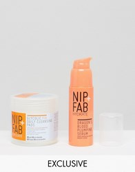 Nip Fab And Asos Exclusive Hero's Glycolic Fix Pads And Dragons Blood Serum Glycolic And Dragons Clear