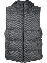 Michael Kors Hooded Padded Gilet Black