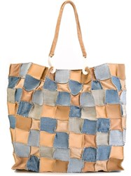 Jamin Puech 'Honu Jeans' Tote Bag Nude And Neutrals