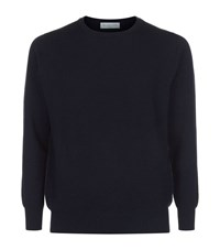 Richard James Pure Cashmere Sweater Male Navy