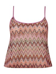 Lipsy Zig Zag Cover Up Top Multi Coloured