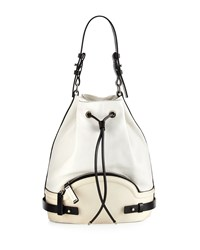Cnc Costume National Pebbled Leather Bucket Bag Optic White Costume National