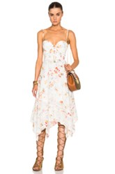 Zimmermann Belle Bustier Dress In White Floral