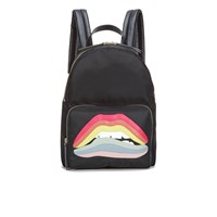 Red Valentino Redvalentino Women's Lips Backpack Black