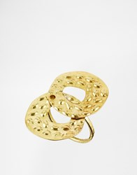 Sam Ubhi Hammered Ring Gold