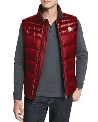 Moncler Dupres Quilted Puffer Vest Red