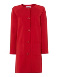 Dickins And Jones Claudia Cocoon Outerwear Coat Red