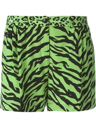 Moschino Cheap And Chic Animal Print Shorts Green