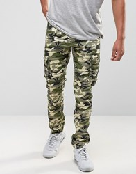 Liquor And Poker Cargo Trouser Green Camo Green
