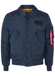 Alpha Industries Cwu Navy Shell Flight Jacket Blue