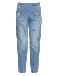 Muveil Butterfly Embellished Jeans