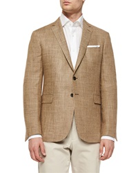Ralph Lauren Black Label Mini Texture Two Button Sport Coat Brown Tan