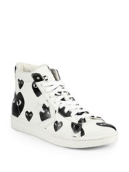 Comme Des Garcons Canvas High Top Sneakers Black White White Black