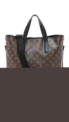 Wgaca Vintage Louis Vuitton Monogram Macassar Davis Tote Brown