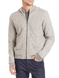 Z Zegna Full Zip Hoodie Light Grey