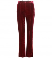 Givenchy Velvet Trousers Red