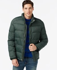 Tommy Hilfiger Men's Big And Tall Classic Puffer Coat Hunter Green
