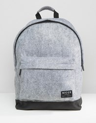 Nicce London Backpack In Grey Textured Fabric Grey